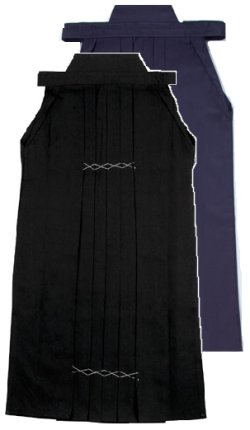 画像1: 黒テトロン袴  日本製