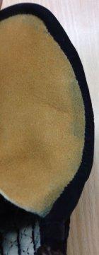 他の写真1: 戦氣3mm刺 鎧甲手 織刺奴 ヘリ紺皮仕立 ※在庫限り※ 大1/2のみ