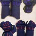 少年用甲手 赤飾り/紫飾り 6mm総織刺鎧甲手 ※在庫限り※