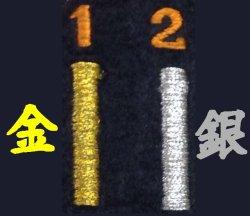 画像1: 2.5cm角(中サイズ) ネーム刺繍 【金・銀色】
