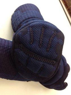 画像1: 戦氣(光重)三分手刺 鎧甲手 織刺仕立 ■在庫限り