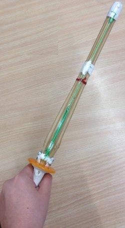 画像3: ミニ竹刀 鍔、鍔止めゴム付