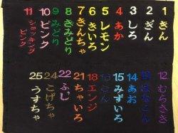 画像1: 2.5cm角(中サイズ) ネーム刺繍 普通色