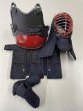 源武堂オリジナルミニ剣道防具 本格手刺防具、二分刺、紺皮仕立